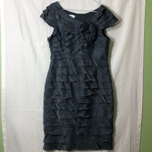 London times ruffled dress